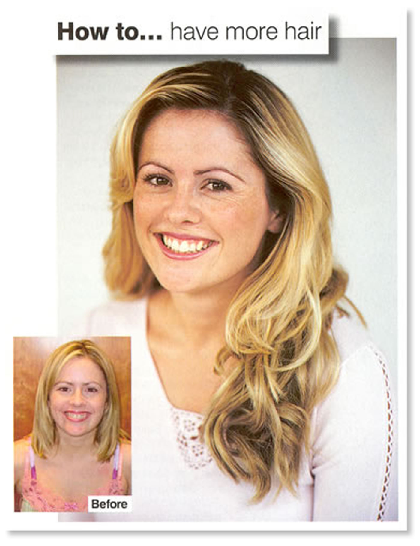 'Stunning' hair extension makeover for Prima Magazine