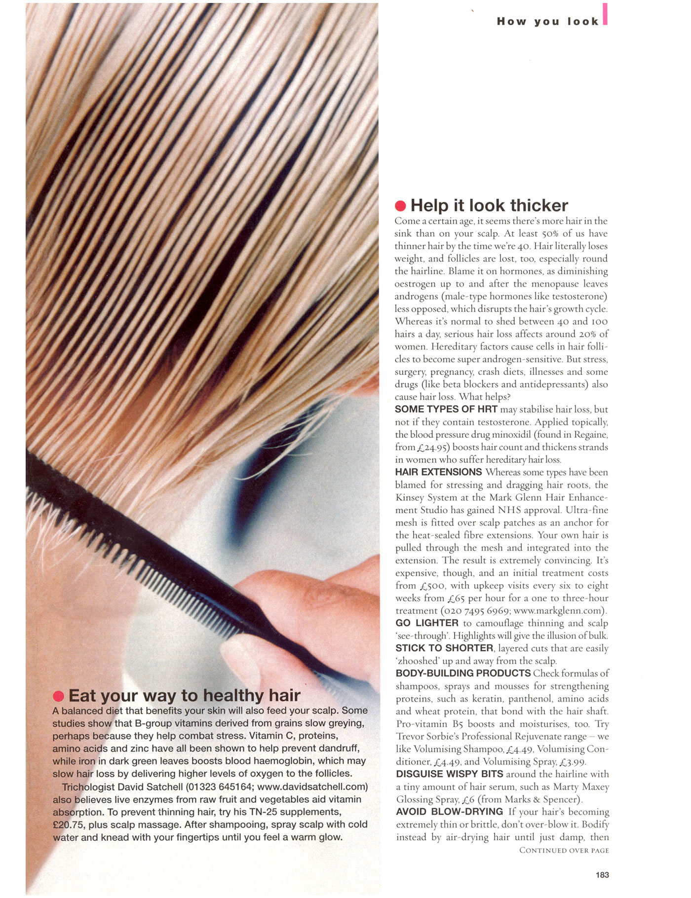 Good Housekeeping - Kinsey System for female hair loss