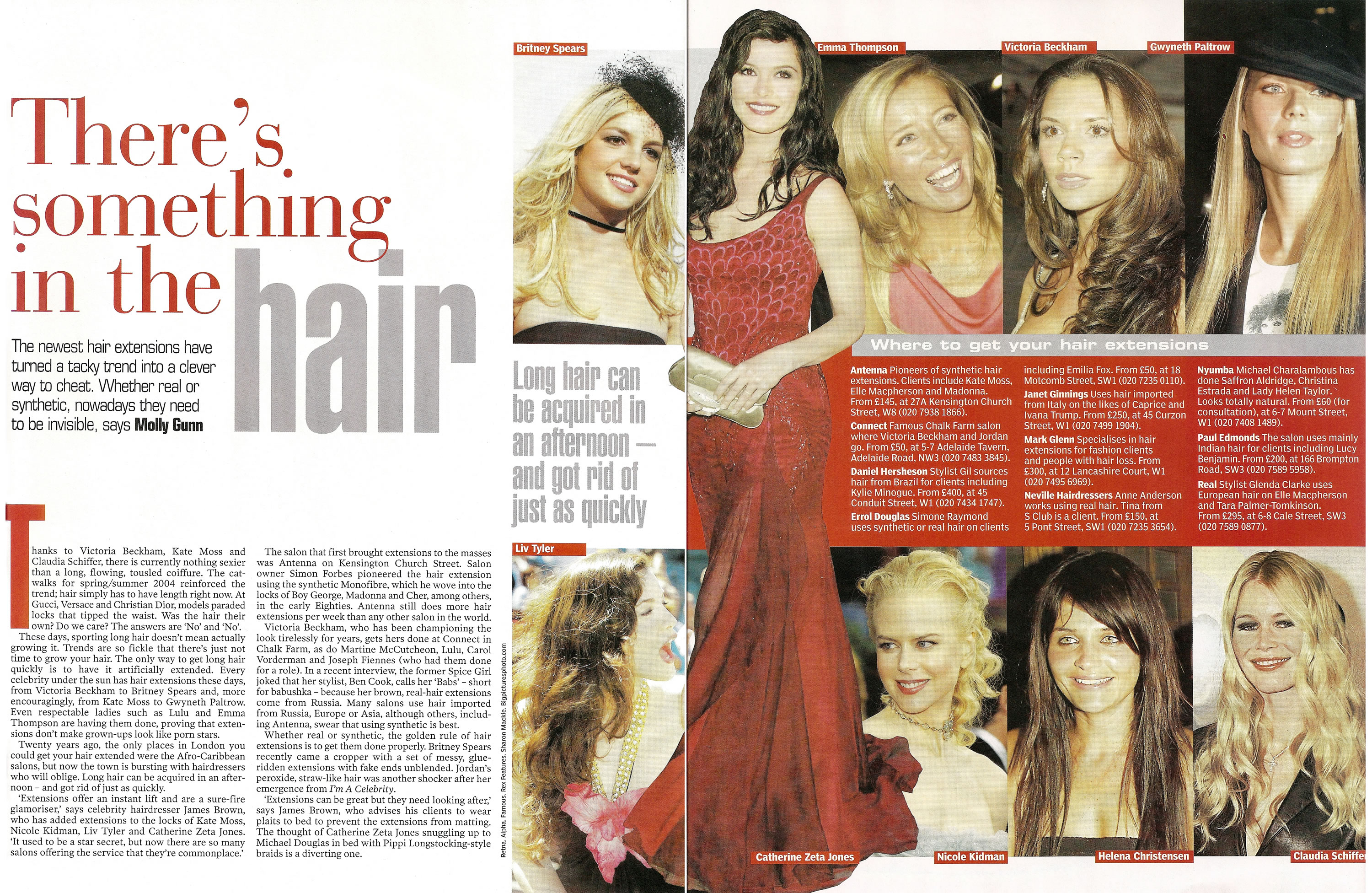 Evening Standard - There's Something in the Hair - Hair Extensions