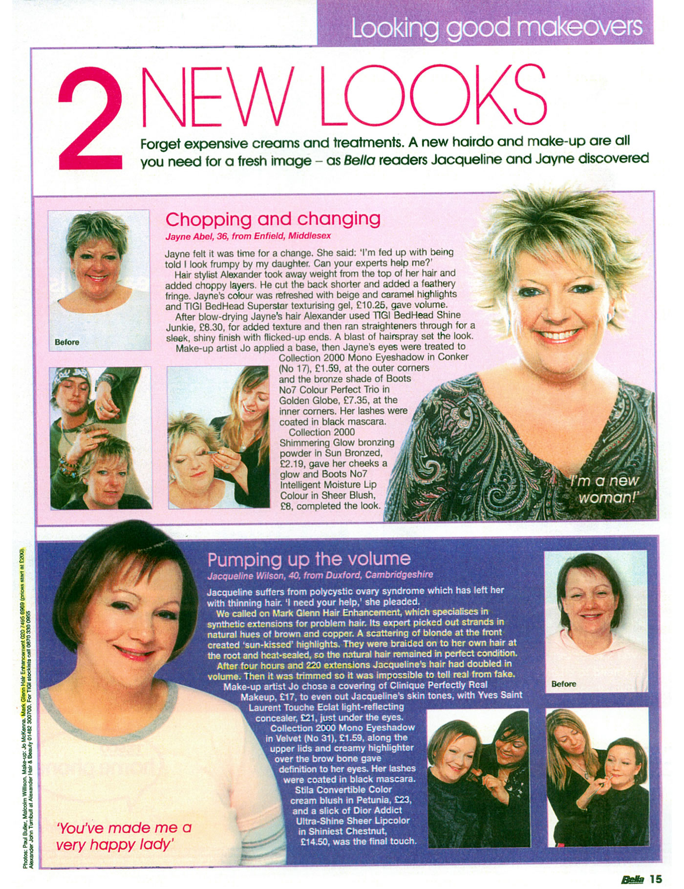 'Pumping up the volume for thinning hair' - Bella Magazine