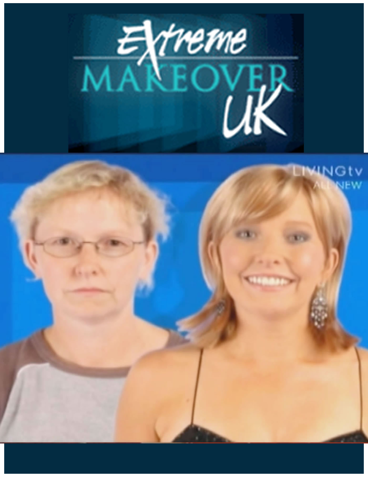 Extreme Makeover UK TV - Mark Glenn helps dreams come true with amazing hair extension transformation