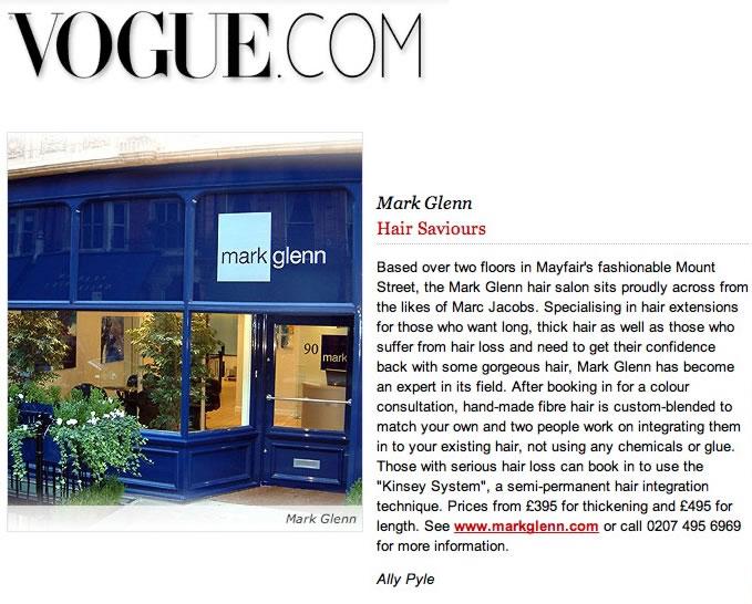 Vogue Magazine - Mark Glenn - 'Hair Saviours' - hair extensions article