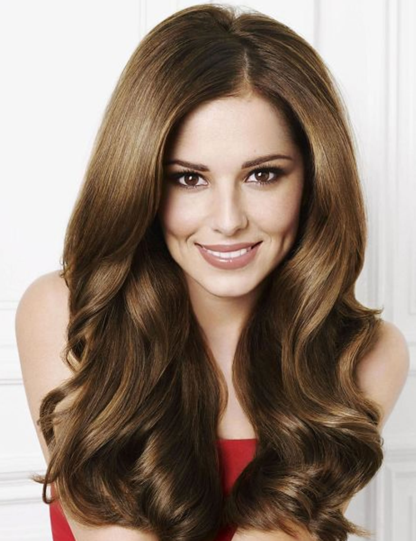 The secret's out - Cheryl Cole's stunning hair is fibre extensions and not the real thing