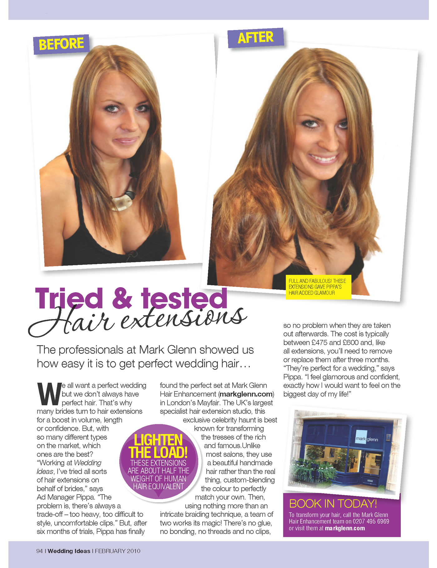 Mark Glenn hair extensions voted the best after 6 months of magazine trials