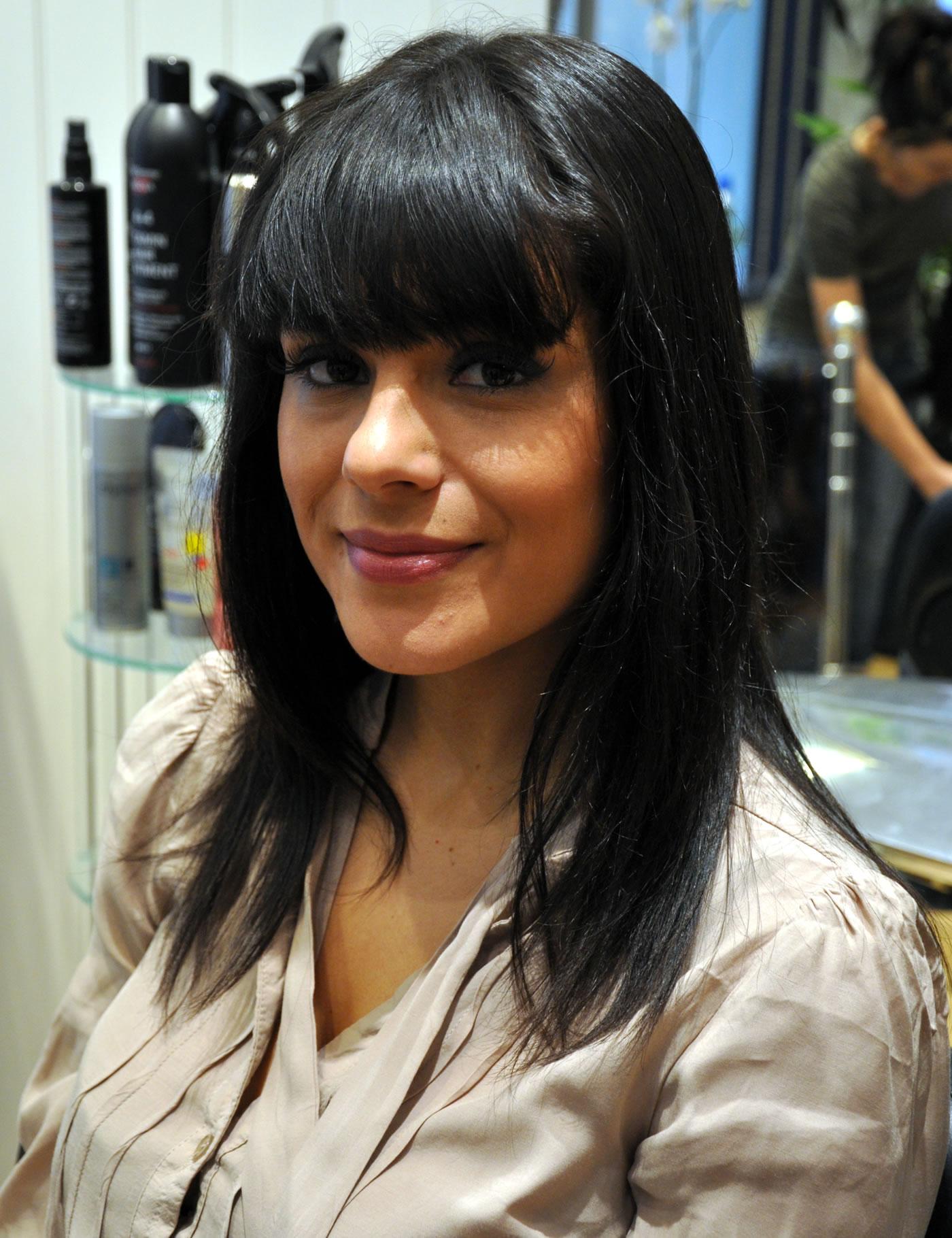 'Glee' Tour cast get hair extensions at Mark Glenn, London - Emma before