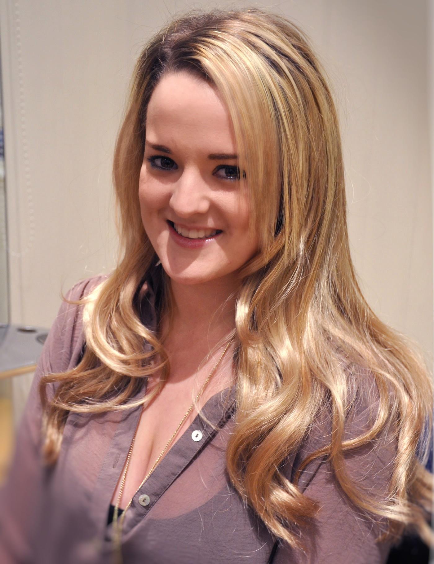 'Glee' Tour cast get hair extensions at Mark Glenn, London - Kimberley after