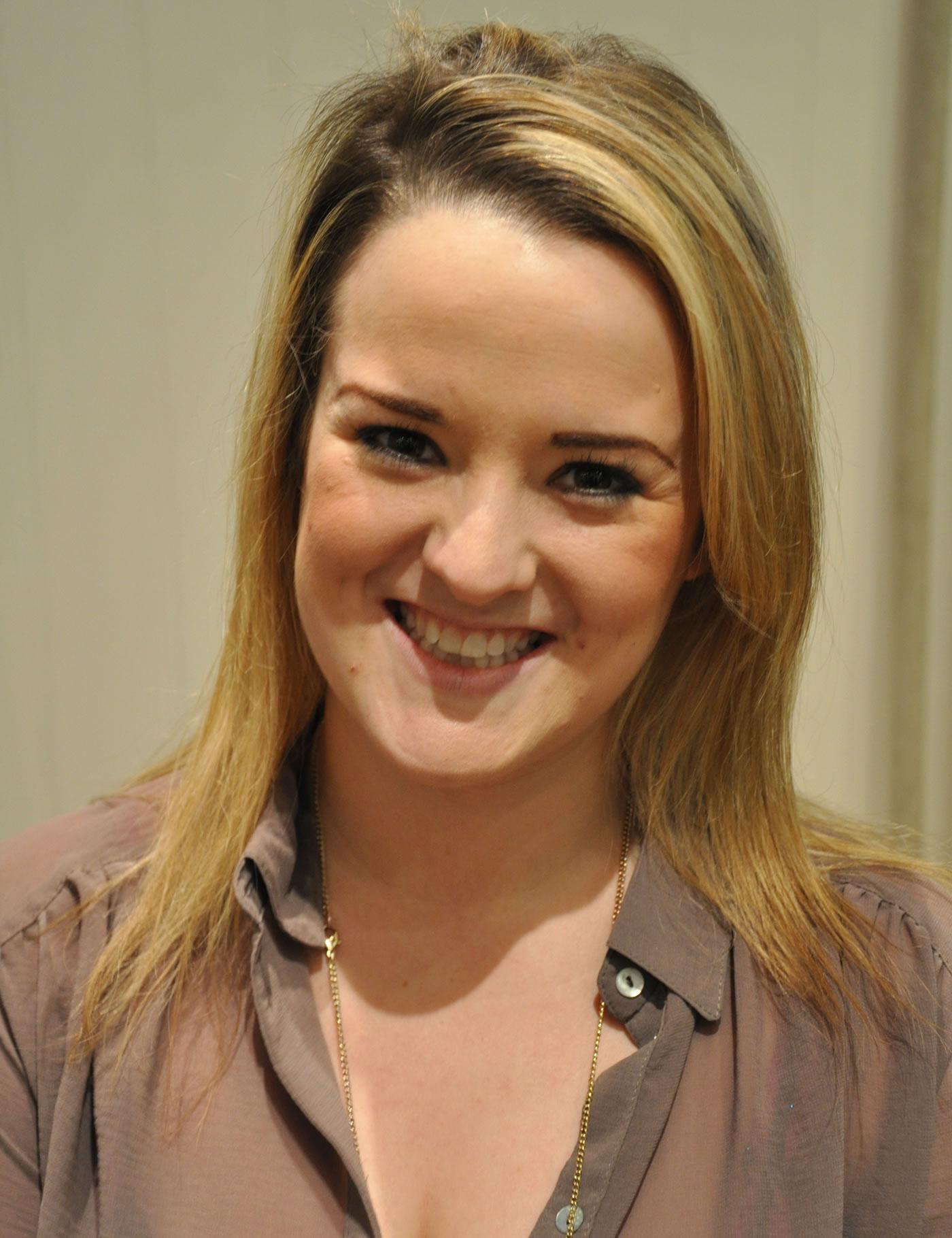 'Glee' Tour cast get hair extensions at Mark Glenn, London - Kimberley before