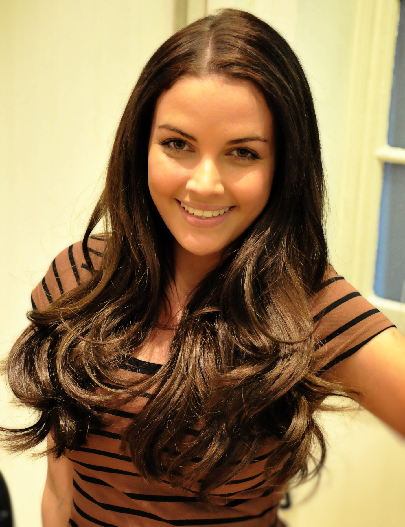 'Glee' Tour cast get hair extensions at Mark Glenn, London - Stacey after
