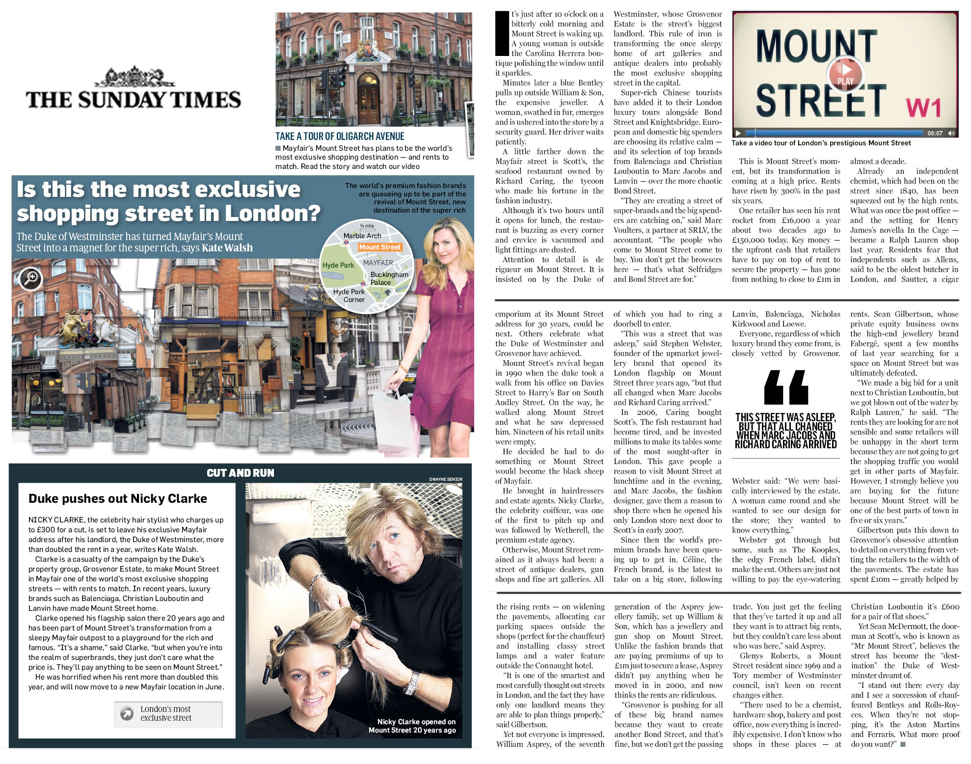 'Is this the most exclusive shopping street in London?' - The Sunday Times