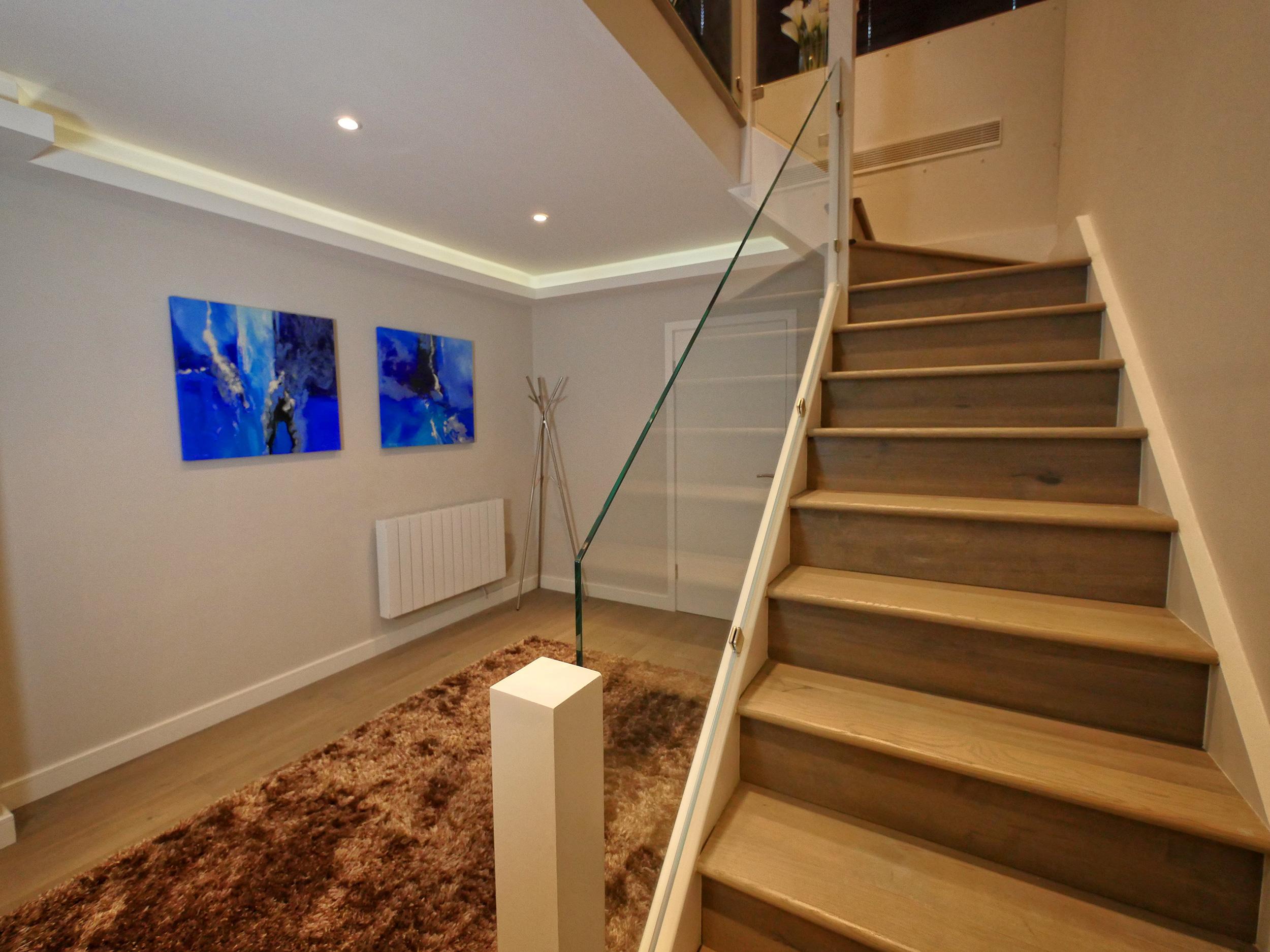 Stairway area in Pozitiv's filming studio, London