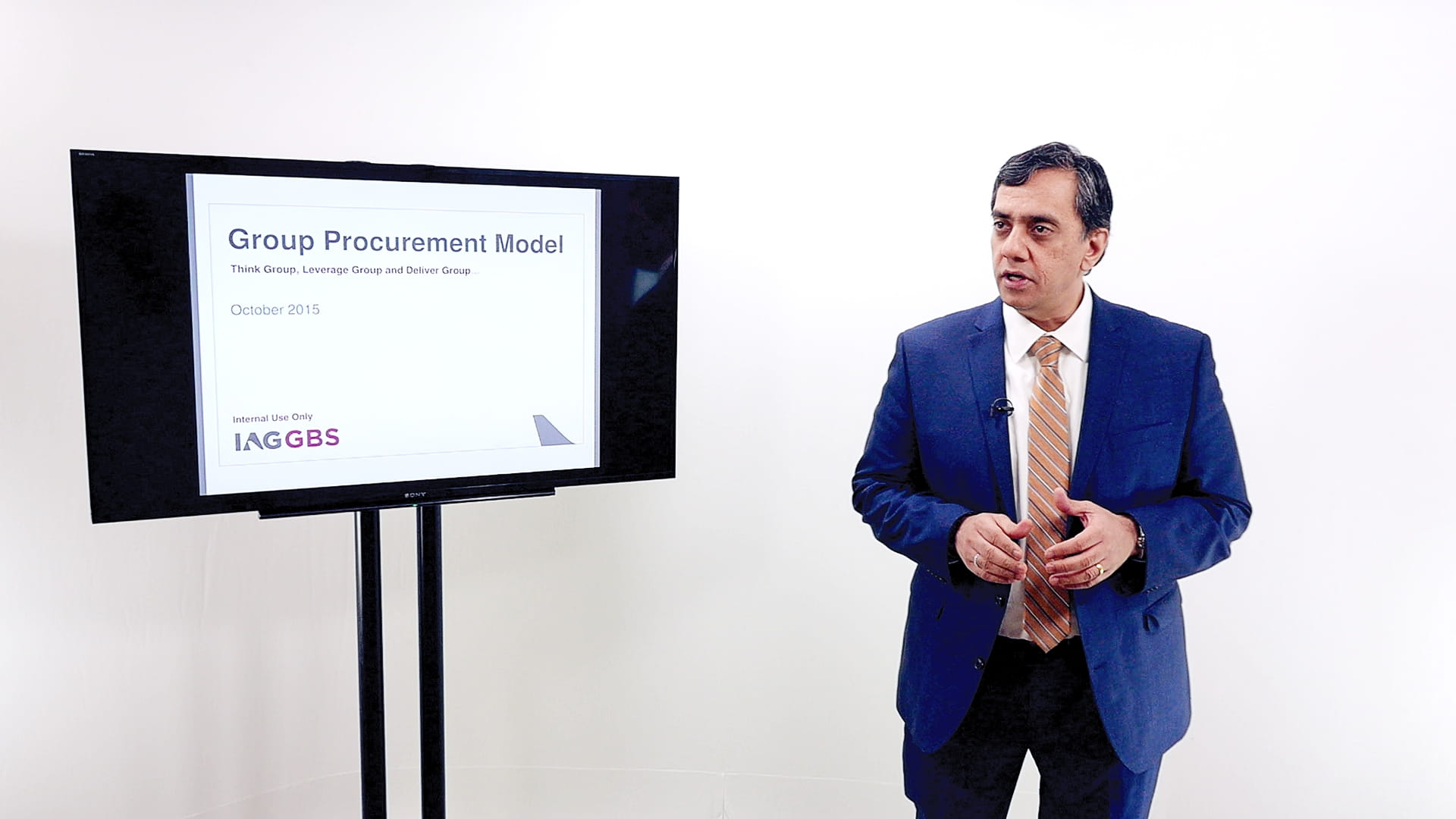 Presentation with PowerPoint at our London training studio