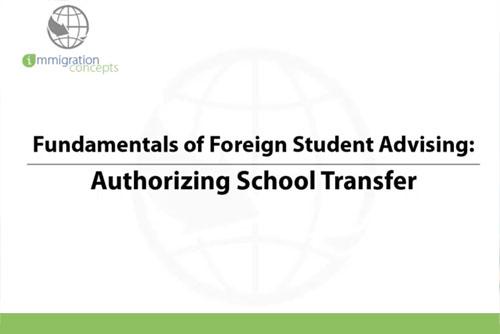 Authorizing School Transfer