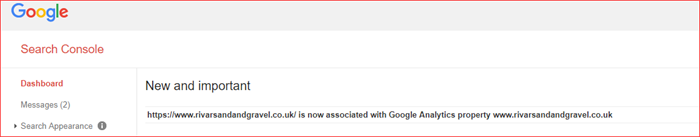 associate url to account in search console
