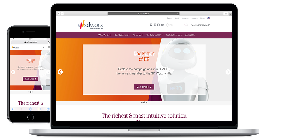 a website redesign for sdworx by wysi of berkshire