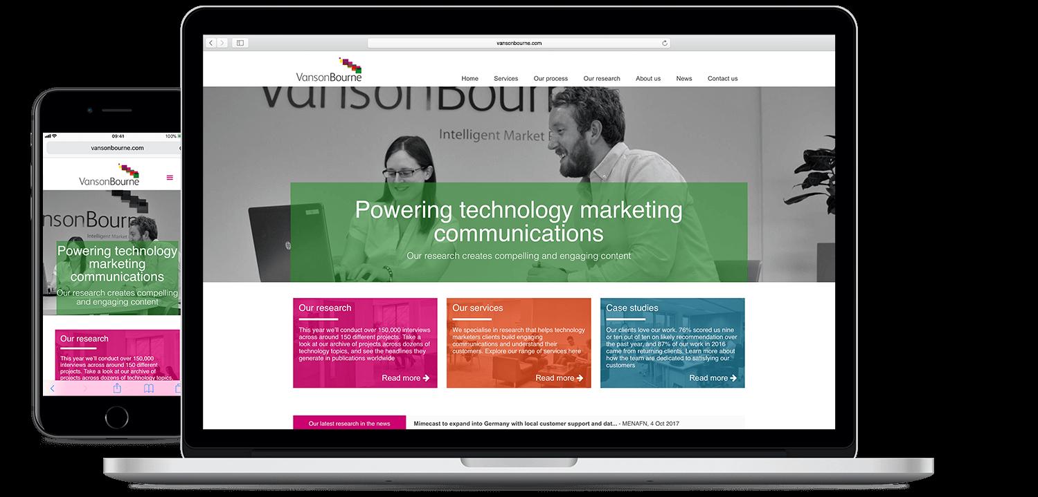 Vanson Bourne Website Device Screenshots