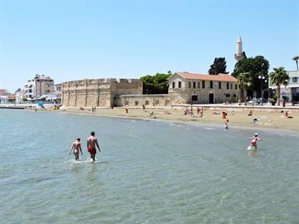Larnaca Castle Beach