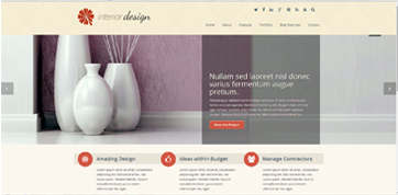 responsive webdesign template for Interior designers in Cyprus
