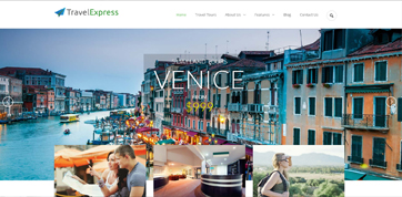 A responsive webdesign template for travel agencies