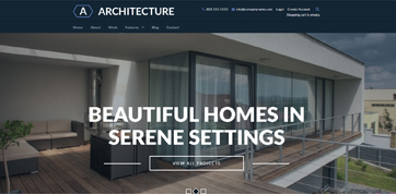 Responsive Website template for Architectures - Preview