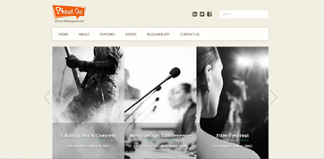responsive webdesign template for events management