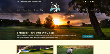 Golf Club Cyprus responsive webdesign template