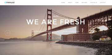 responsive parallax based webdesign template