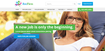 HR and recruitment firms responsive design template html