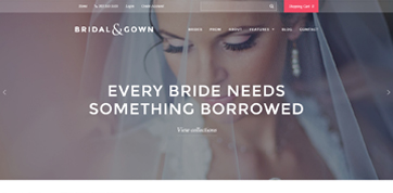 Wedding boutique Cyprus webdesign template (responsive) - Preview