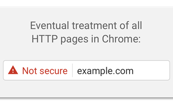 Chrome will show Security Warnings on HTTP Pages starting October 2017