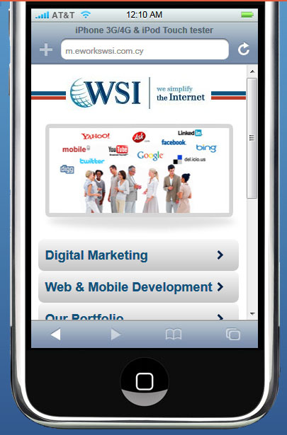 How is your site displaying on a smartphone